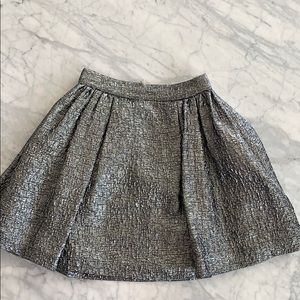 Kate spade aimee metallic textured pleat skirt